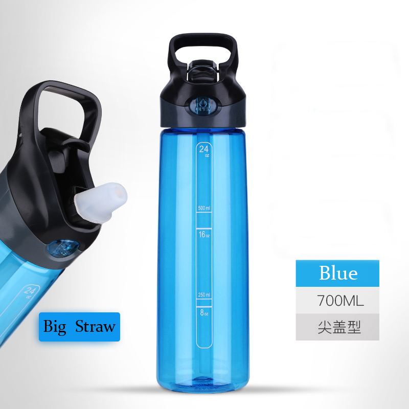 GuangYi New 700ml Sports Water Bottle BPA Free Portable outdoor Eco-friendly Camping Direct Drinking Space Plastic Water Bottle