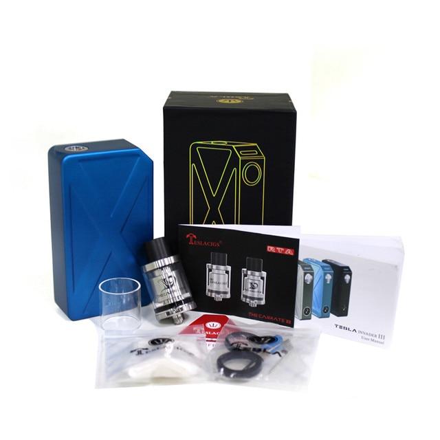 100% Аутентичные Tesla Invader III 240 Вт Starter Kit Invader 3 VV VW Двойной 18650 Суб Испаритель для 510 Потоков Электронных сигареты