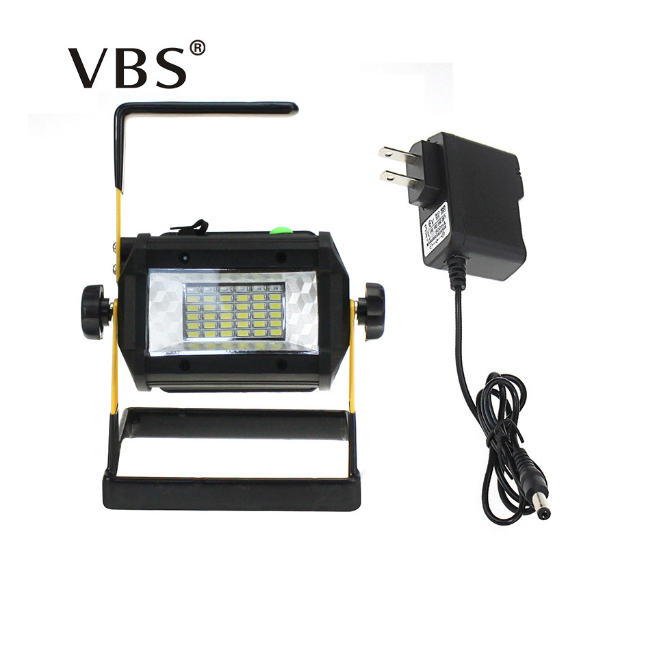 Rechargeable Led Portable Spotlight  36LEDs Floodlight Movable Outdoor Camping Light Grassland Lamp Power from 4*18650 Batteries ultrathin led flood light 200w ac85 265v waterproof ip65 floodlight spotlight outdoor lighting free shipping