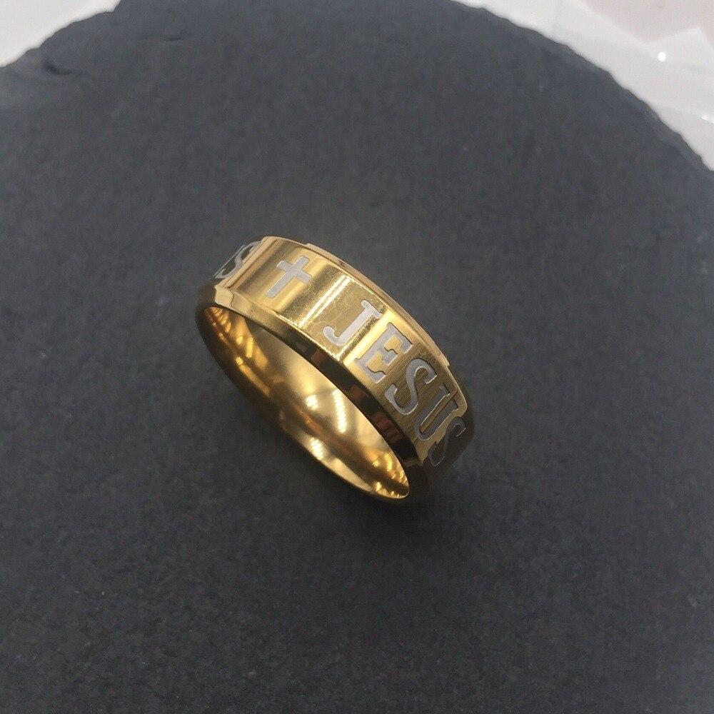 6mm para hombre de acero Chapado en Oro Anillo De Oro Nuevo para Mujer Boda Banda Nuevo Tallas K a Z+1