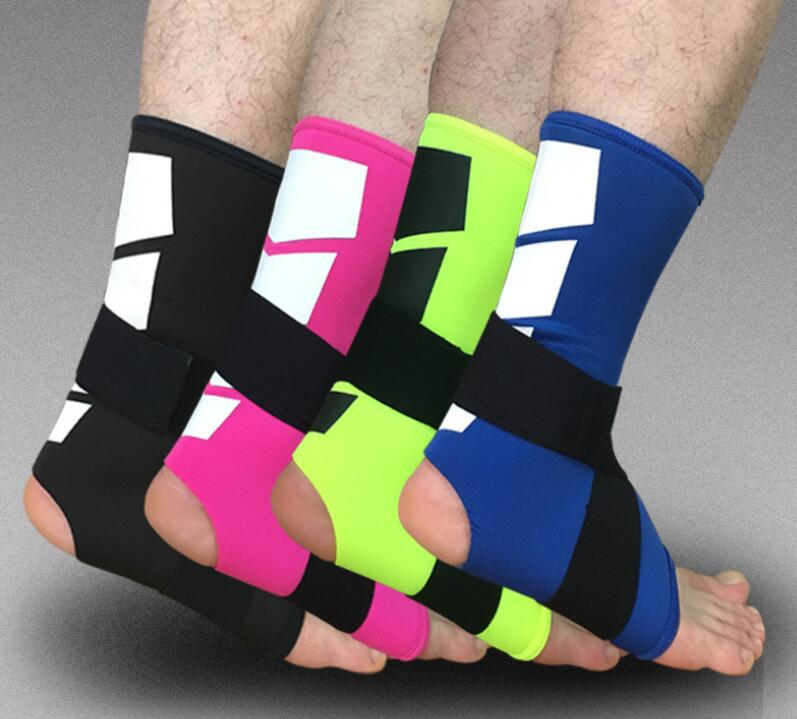 1 Pair Adjustable Ankle Support Pad Protection Elastic Brace Guard Support Ball Games Running Fitness