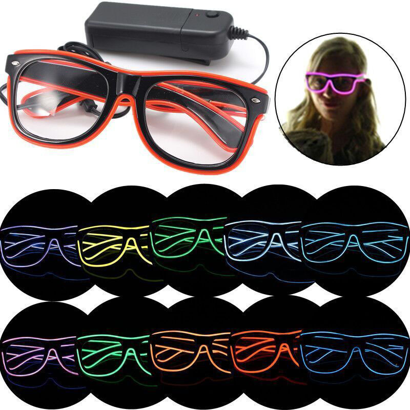 3 Modes Quick Flashing El Led Glasses Luminous Party Lighting Colorful Glowing Classic Toys for Dj Bright Light Gift ZA3551