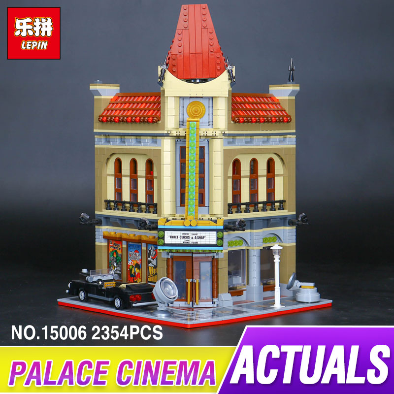 LEPIN 15006 2354pcs Palace Cinema Model Building Blocks Set Bricks Toys Compatible 10232 Toys For Children birthday gift lepin 02012 city deepwater exploration vessel 60095 building blocks policeman toys children compatible with lego gift kid sets