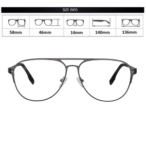 Image 5 - Transition Photochromic Bifocal Reading Glasses Optical Hyperopia Metal Frame UV400 Sunglasses