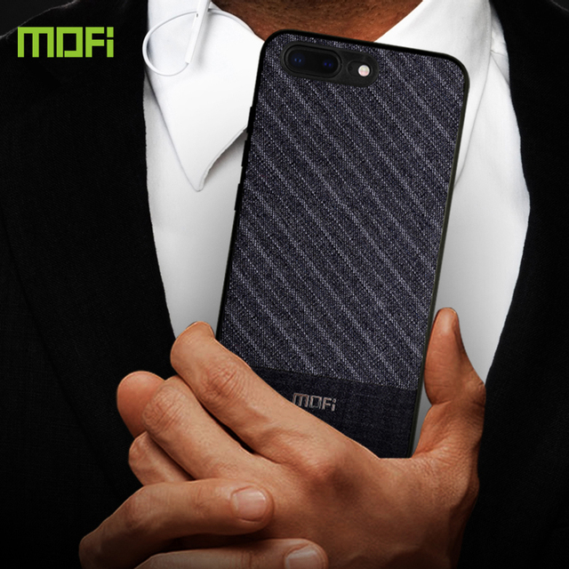 MOFi iPhone 7 8 Plus Luxury Suit Fabric Shockproof Back Case Cover