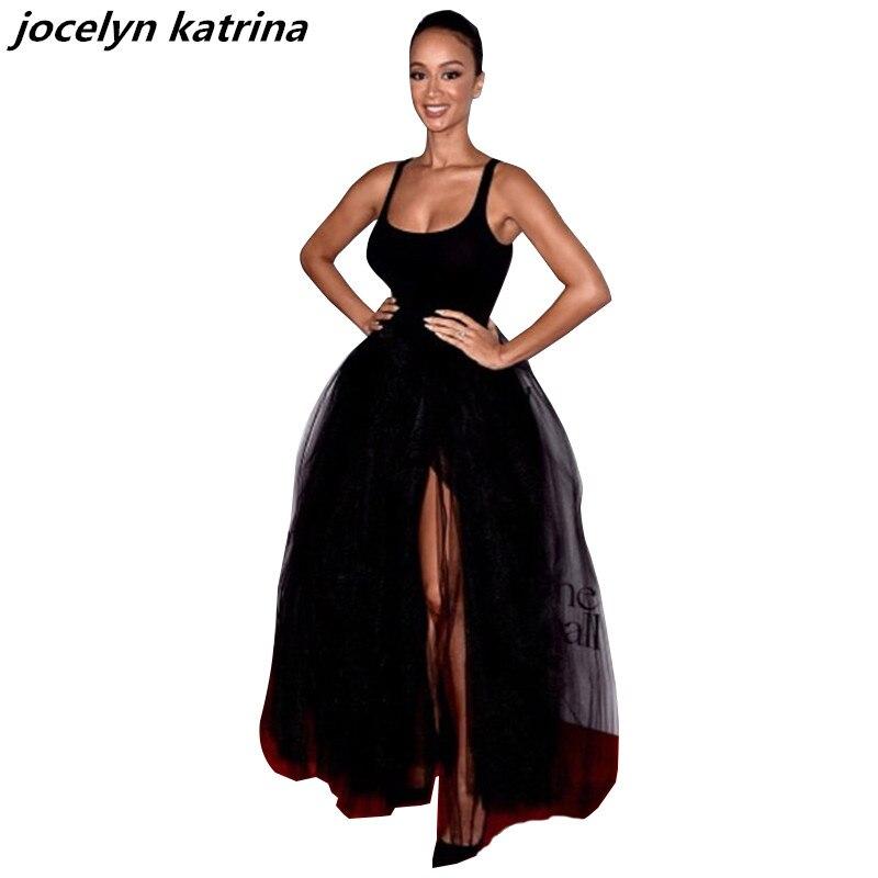 Jocelyn katrina marke frauen patchwork langarm maxi dress elegante ...