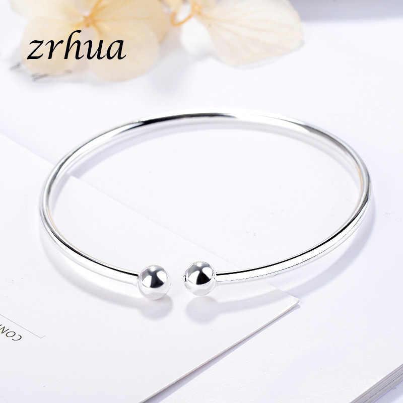 Zrhua Vintage 925 Zilveren Armband Armbanden Voor Vrouwen Meisjes Hoge Kwaliteit Open Verstelbare Charms Armbanden Sieraden Valentines Gift