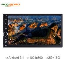 Quad Core Coche DVD 2 Din Pure Android 1024*600 de Resolución Universal de Coches Reproductor de DVD Doble Din Estéreo del GPS de Navegación para Automóviles Radio
