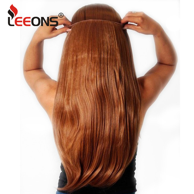 Leeons 22 Secret Wire Clip On Hair Extensions Natural Black Pink