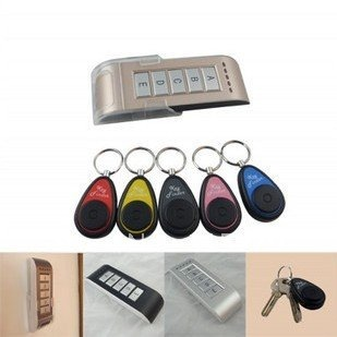 Wireless Car Key Rings Finder Electronic Anti-lost the Device Alarm Phone Valuables Search 5 Receiver