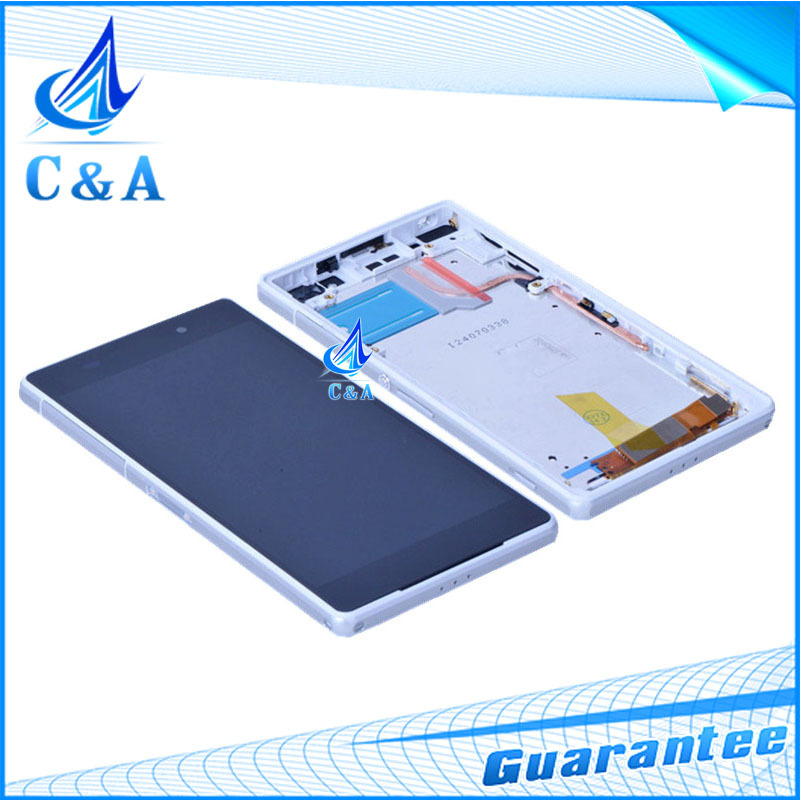 5 pcs DHL/EMS post replacement repair parts 5.2 inch screen for Sony Xperia Z2 L50w D6503 lcd display with touch+frame assembly