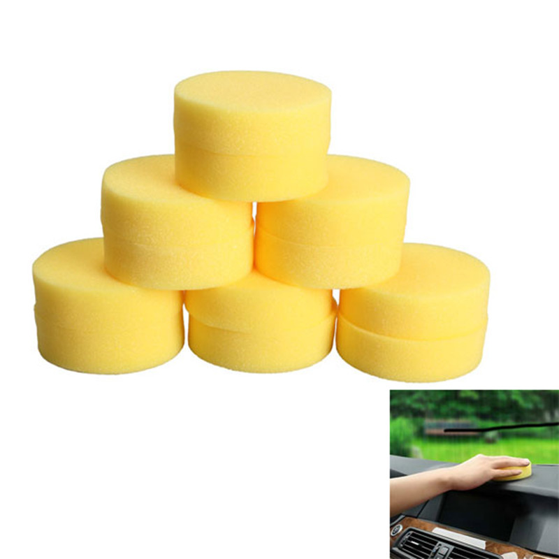 Car Wash Sponges 12pcs Auto Polish Wax Foam Sponges Brushes Auto Detailing Pad Floors Vehicle Glass Care Cleaning Products for C