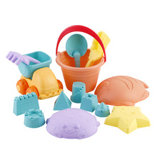 Childrens  Portable Sand Castle Toys Digging Tools Baby Bathing Duckling Water Playing Snow Model Toy Suit