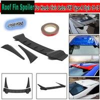 ABS крыши Fin сзади крыши спойлер крыло для Honda Civic для седан FK8 Тип R Стиль 16 18 Неокрашенный Черный