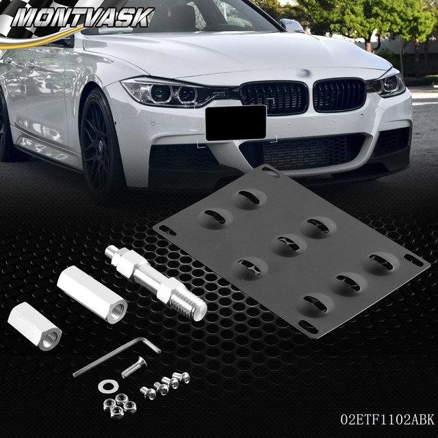 Free Shipping Bumper Tow Hook License Plate Mounting Bracket For Bmw