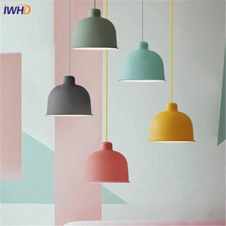 Modern Minimalist Vintage Iron Led Pendant Lights CafeRoom/Bar Lamp Single Color Pendant Lamps Decoration Indoor Lighting E27 a1 black stent modern minimalist vintage