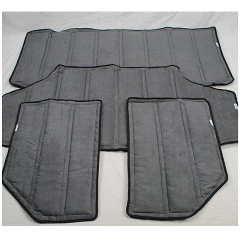 Auto Accessories 1 Set Car Roof Hardtop Interior Heat Sound Insulation Adiabatic Cover for Jeep Wrangler jk 4 Doors 2012 2016