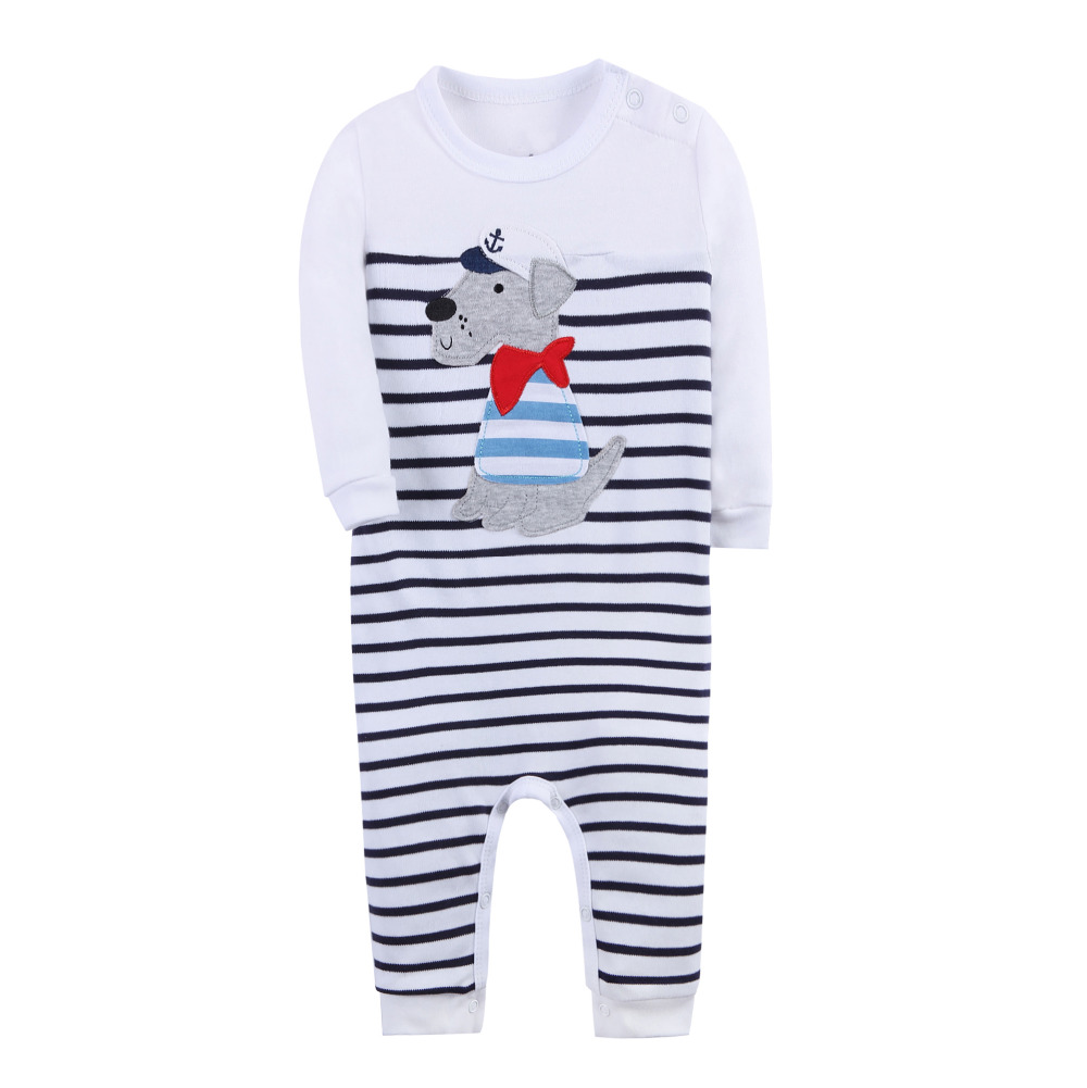 Baby Rompers Boys Set Children Clothing Suit Baby Body Suits Kawaii Animal Pattern Newborn Jumpsuit For 3-24 Month
