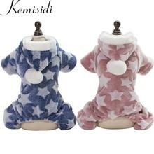 Купить с кэшбэком KEMISIDI Dog Pajamas Jumpsuit Autumn Winter Dog Clothes Fleece Four legs Warm Pet Clothing Outfit Small Dog Star Costume Apparel