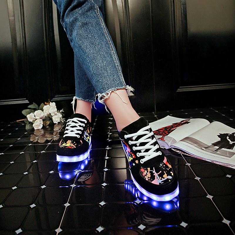 Image 2 - KRIATIV Slippers Led Usb Kids Light up shoes Led girl shoes infant tenis simulation Slippers do with Lights Up Luminous Sneakers-in Sneakers from Mother & Kids