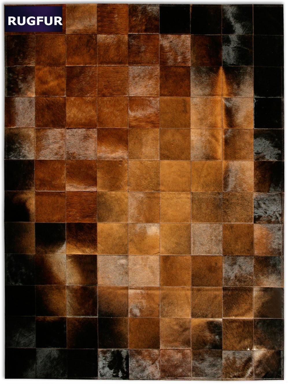 cowhide rug patchwork