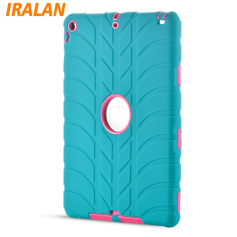 Hybrid Armor Case For iPad Pro 9.7 Kids Safe Shockproof Heavy Duty Silicone Hard drop resistance ipad tablet accessories for amazon 2017 new kindle fire hd 8 armor shockproof hybrid heavy duty protective stand cover case for kindle fire hd8 2017