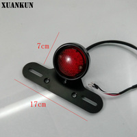 Motorcycle Parts Modified Metal Retro LED Taillights Brake Lights