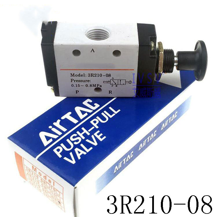 3 Port 1/4 BSP Push pull Valve Hand Lever Operated Solenoid Valve Hand Return Manual Control Valve 3R210-08 new scv valve suction control valve 294200 0370 2942000370