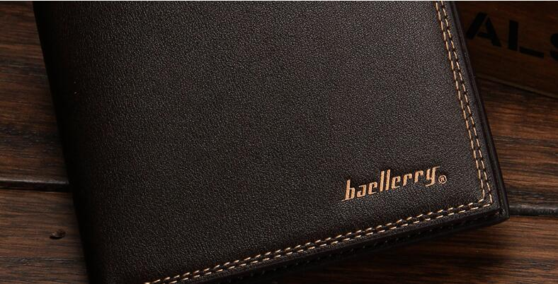 male designer wallets 0b3d  Baellerry New Black PU Leather Men Wallets Small Famous Brand Wallet Male  Designer Mens Purse Credit Card Coin Wallet Short-in Wallets from Luggage &  Bags