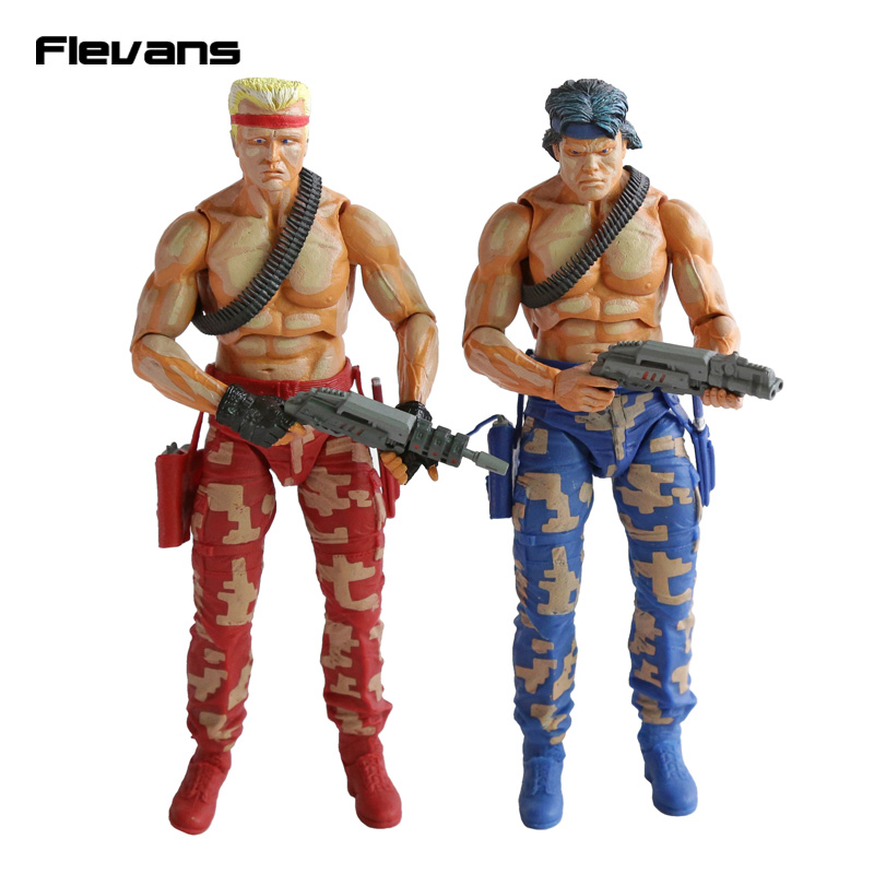 NECA CONTRA Bill & Lance PVC Action Figure Collectible Model Toy 2-pack 7 18cm neca the texas chainsaw massacre pvc action figure collectible model toy 18cm 7 kt3703