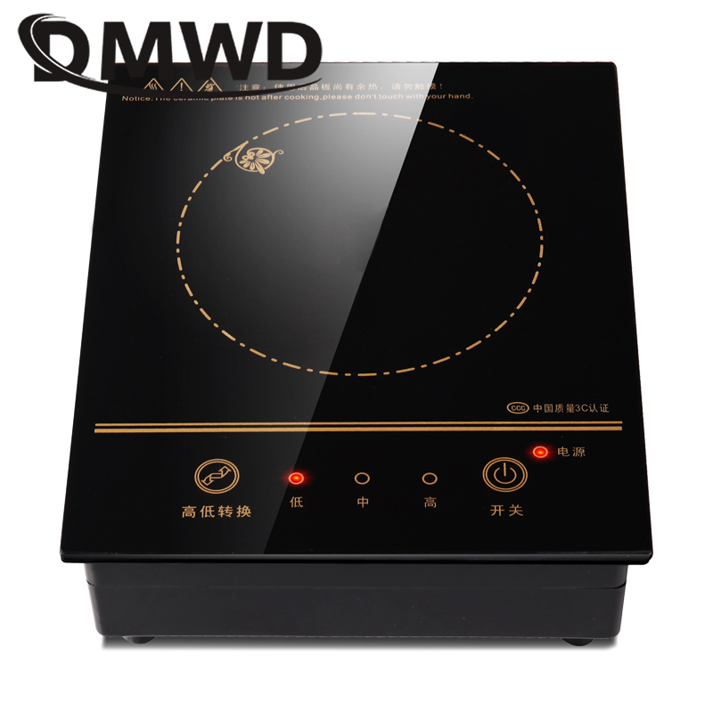 DMWD Mini Electric Magnetic Induction Cooker Wire control Embedded Hotpot Hob Burner Waterproof hot pot Tea Boiler Stove Cooktop