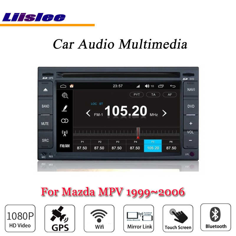 Liislee Auto Android Multimedia Voor Mazda MPV 1996 ~ 2006 Radio CD Dvd-speler GPS Navi Kaart Navigatie BT Audio video Stereo System