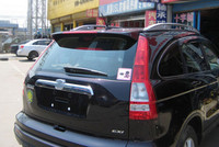 For Honda CRV Spoiler ABS Material Car Rear Wing Primer Color Rear Spoiler tail For Honda CR V Spoiler with LED light 2007 2010