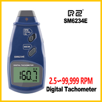 Hand Held Non contact Photoelectric Pro Laser Tachometer RPM Meter Speed Digital Tachometer SM6234E