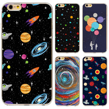 New Arrival Universe Outer Space Star Beautiful Girl Painted Phone Cases For iphone 5 5s 6 6s Soft Back Capa Case(China)