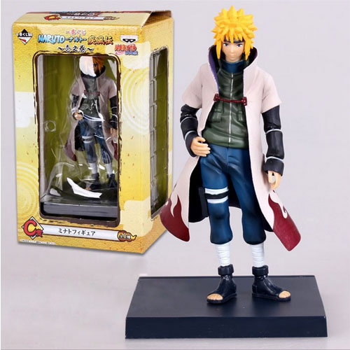 HOT Anime Naruto 4th Hokage Namikaze 6'' Action Figure Collectible PVC Model Gift Toy arale figure anime cartoon dr slump pvc action figure collectible model toy children kids gift 6 types