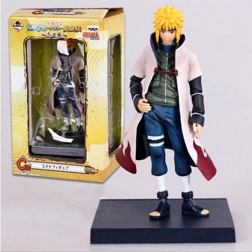 HOT Anime Naruto 4th Hokage Namikaze 6 Action Figure Collectible PVC Model Gift font b Toy