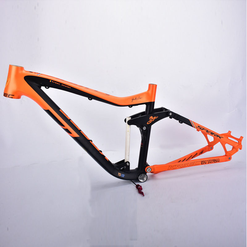 KRSEC Aluminum Alloy Moutain Bicycle Frame MTB Bike Frame 26/ 27.5 *16 Tapered Tube AM Tail Hook Colorful orange szblaze 6061 aluminum alloy tube clap long track ice speedskating blades frames 60hrc dislocation skate shoes knife 1 1mm frame