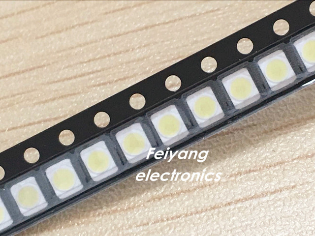 100PCS Original and new For LG LED Backlight 1210 3528 2835 1W 100LM Cool white LCD Backlight for TV TV Application
