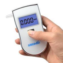 2015 новый патент портативный цифровой мини тестер алкоголя в выдыхаемом воздухе оптовых тест алкотестер с 5 мундштука AT818 Бесплатная доставка