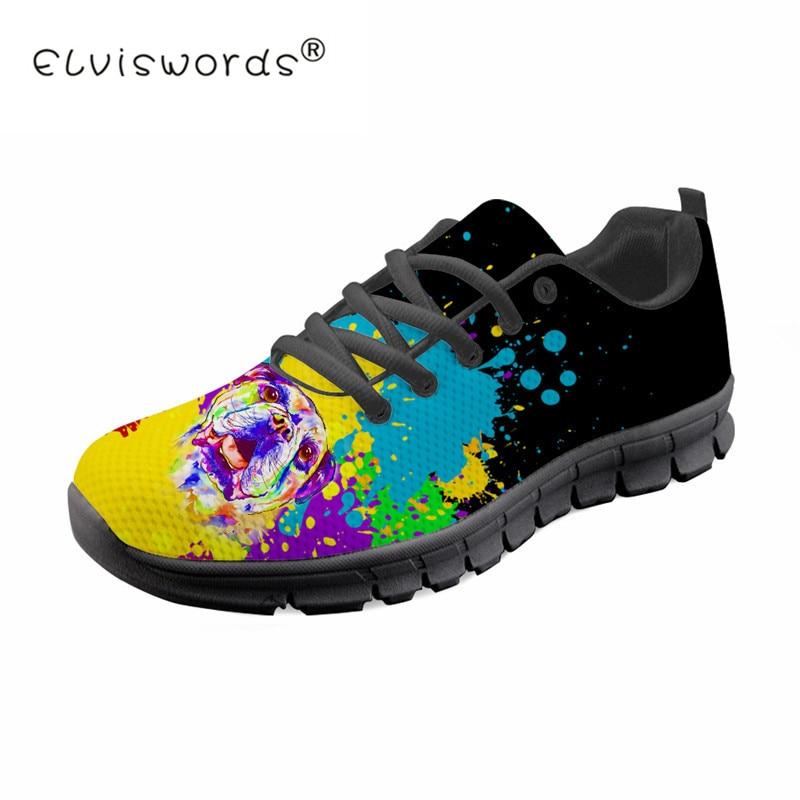Coloré Imprimé Graffiti Hommes décontracté à lacets Chaussures de Sport D'été En Maille Respirante Chaussures Plates Confort Chaussures de Marche ELVISWORDS