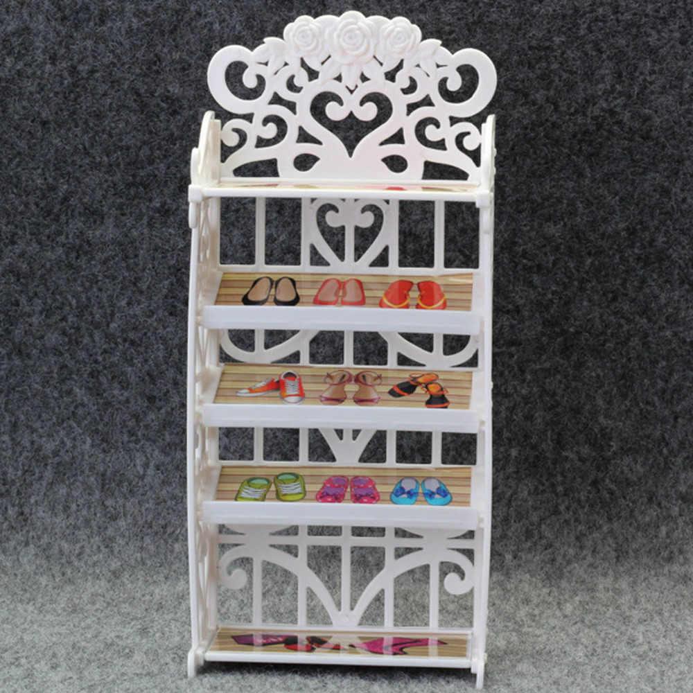 Модная забавная кукла обувь стойка кукольный шкафчик дом мебель аксессуары игровой домик для кукол Барби игрушки Дети девушки подарок на день рождения