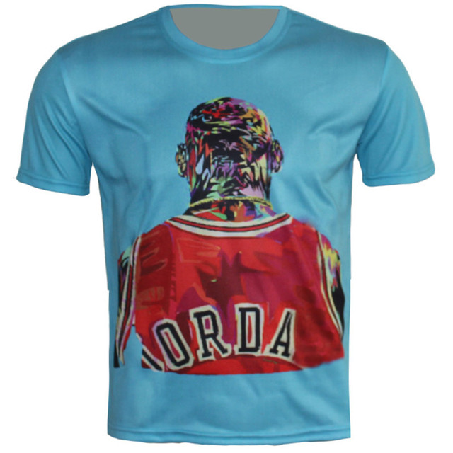date de sortie e46d2 798a1 € 8.95 20% de réduction|2018 été nouveau enfants T Shirt impression 3D  Jordan basket ball All Star jeu T Shirt t shirts garçon fille été hauts Fit  95 ...