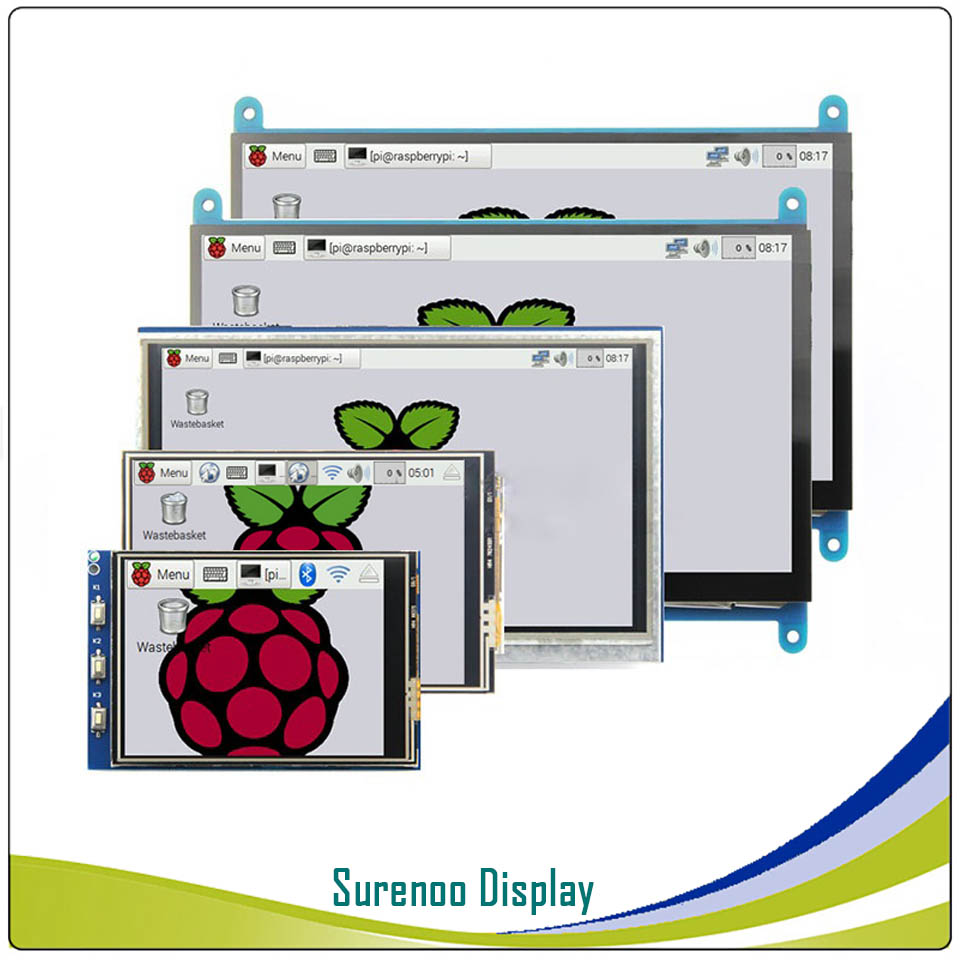 3.2, 3.5, 5.0, 7.0 Inch HDMI/GPIO TFT LCD Module Display Monitor Screen With Resistive/Capacitive Touch Panel For Raspberry Pi
