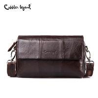 Cobbler Legend Vintage Men's Bag Shoulder Crossbody Bags for Men Clutch Genuine Leather Men Messenger BagSmall Male Handbags