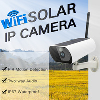 1080P HD Wifi Outdoor Waterproof Solar Energy IP Camera Wireless Surveillance IR Camera CCTV Camera Home Safe Real time Talk