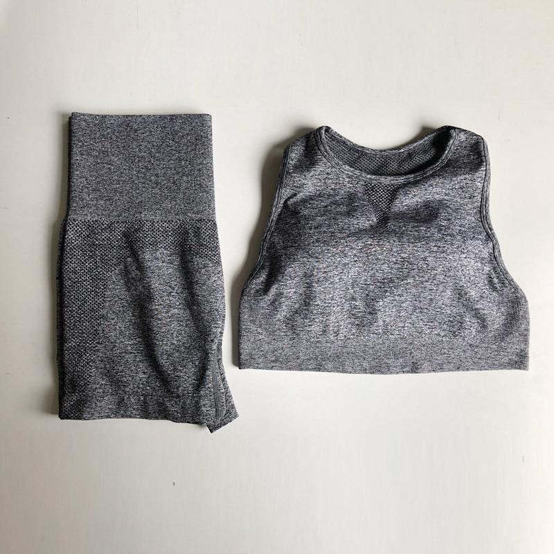 Novo verão 2 peça roupas de ginástica