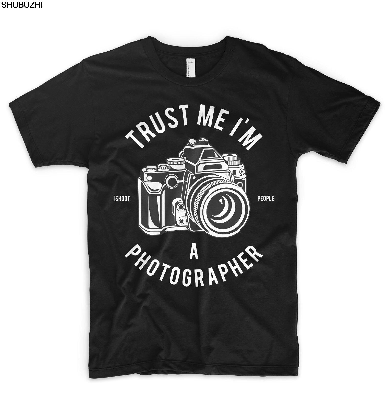 T-shirts Hilfreich Vertrauen Ich Bin Ich Ein Fotograf T Shirt Top Ich Schießen Menschen Canon Sony Nikon Lumix Oansatz Hipster Druck T Shirts Männer Sbz1074 Taille Und Sehnen StäRken