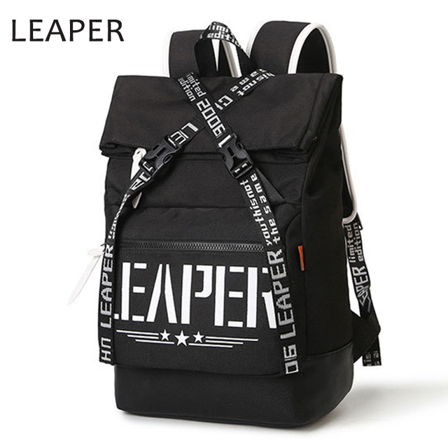 f06ebf909605 LEAPER Oxford Backpack Man Bags Vintage College Backpacks For School  Student Bags 15 Inch Laptop Men s Backpacks Bolsa Mochila