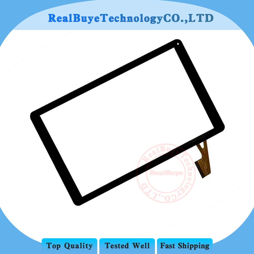 A+10.1 <font><b>inch</b></font> Touch Screen Panel Digitizer Glass Lens Sensor Replacement <font><b>50</b></font> <font><b>pin</b></font> VTCP010A18-FPC-4.0 image